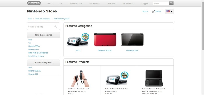 Now that you are on the Refurbished Systems page, you'll click on the picture of the Wii Remote and Nunchuk.