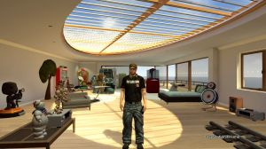 Daniel Wilson's avatar and apartment in PlayStation Home.
