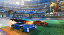 Two new battle-cars come to Rocket League via the Supersonic Fury DLC. Photo courtesy Psyonix.